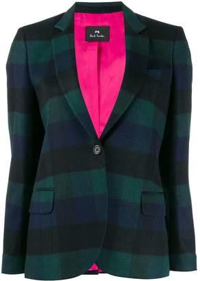 Paul Smith check print blazer