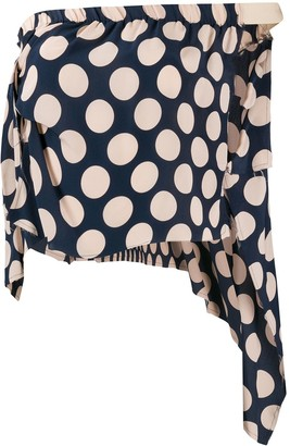 Maison Martin Margiela Pre Owned 1990s Polka Dot Top