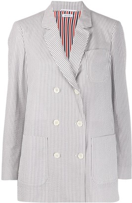 Thom Browne Striped Double-Breasted Blazer