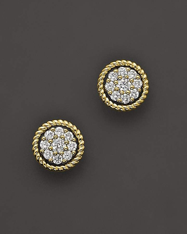 Bloomingdale's Diamond Earrings in 14K Yellow Gold, .25 ct. t.w.