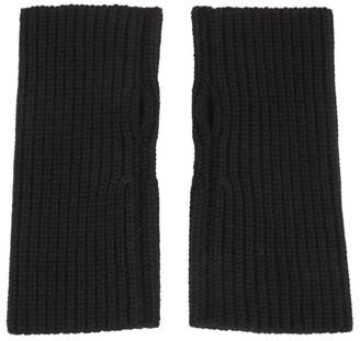 Dolce & Gabbana Black Wool Fingerless Gloves