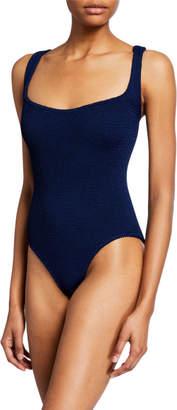 Hunza G Zora Square-Neck One-Piece Swimsuit