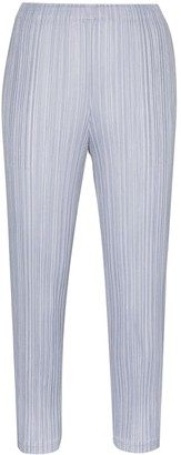 Pleats Please Issey Miyake Cropped Plisse Trousers