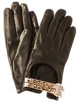 Valentino Rockstud Leather Gloves.