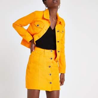 River Island Womens Orange denim mini skirt