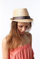 Grace Straw Fedora with Menswear Band