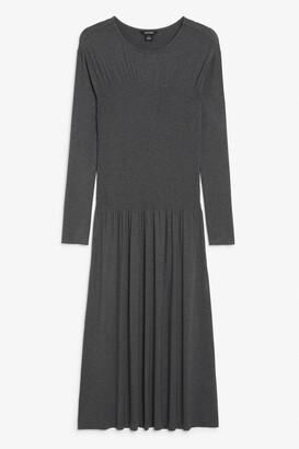 Monki Shirred maxi dress