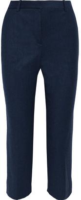 Theory Treeca Cropped Wool-flannel Slim-leg Pants