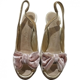 Louis Vuitton Gold Velvet Heels