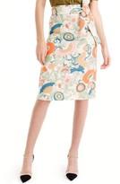 J.Crew Women's Tie Waist Ornate Floral Skirt