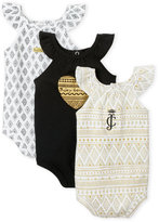 juicy couture (Newborn Girls) 3-Pack Sun Beauty Bodysuits