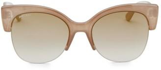 Jimmy Choo 56MM Priya Clubmaster Sunglasses