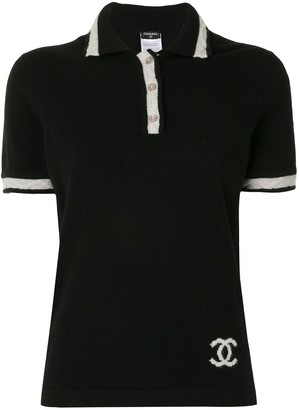 Chanel Pre Owned 2004 cashmere CC polo shirt