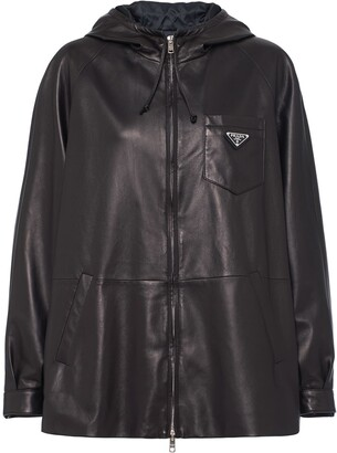 Prada oversized hooded jacket