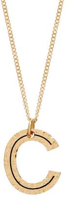 Burberry Hammered C-charm Gold-plated Necklace - Womens - Gold