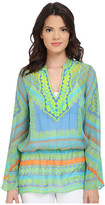 Hale Bob Meet Me in Havana Silk Chiffon Tunic