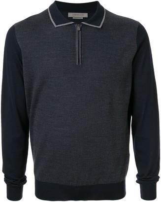Corneliani Long Sleeve Polo Sweater