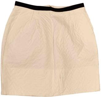 Sandro White Cotton Skirt for Women