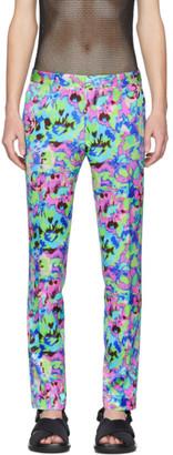 Dries Van Noten Multicolor Floral Trousers
