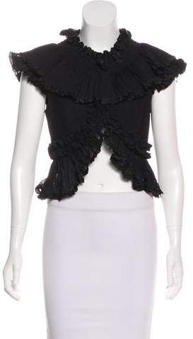 Temperley London Wool Ruffle-Accented Vest