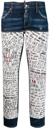 DSQUARED2 Handwriting Print Jeans