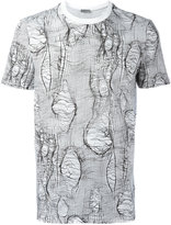 Christian Dior broken stitch print T-shirt - men - Cotton - L
