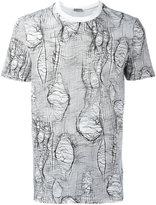 Christian Dior broken stitch print T-shirt