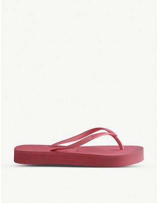 Havaianas Slim Flatform rubber flip-flops