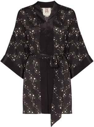 Figue Niko star print kimono-style jacket