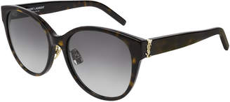 Saint Laurent SL M39 Rounded Acetate Sunglasses