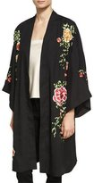Alice + Olivia Lupe Embroidered Long Kimono