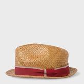 Paul Smith Men's Tan Straw Trilby Hat