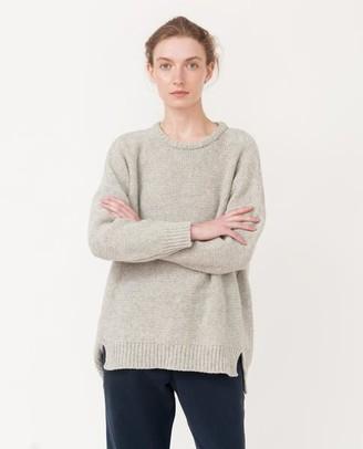 Beaumont Organic Light Grey Faye Marie Wool Knitted Jumper - Light Grey / S/M - Grey