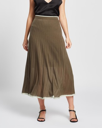 Lee Mathews Tencel Rib Skirt