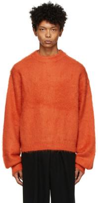 Fumito Ganryu Orange Dolman Sleeve Sweater