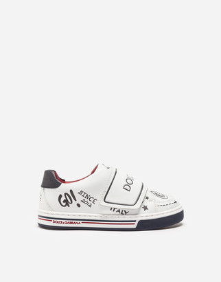 Dolce & Gabbana First Steps Leather Sneakers