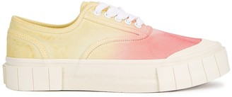 Good News Ace tie-dyed canvas flatform sneakers