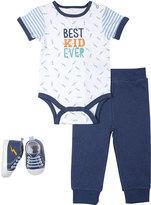 Cutie Pie Baby Navy 'Best Kid Ever' Bodysuit Set - Infant