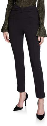 Veronica Beard Ferdinand High-Rise Ankle Pants