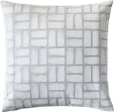 Serena & Lily Painted Basketweave Pillow Cover - Seaglass