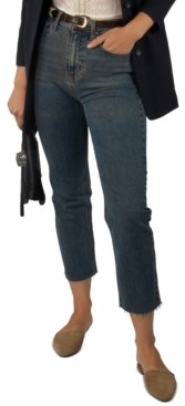 Indigo Rein Juniors' High Rise Slim Straight Cropped Jeans