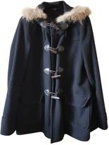 La Petite Francaise Black Wool Coat for Women