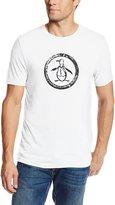 Original Penguin Men's Triblend Distressed Circle Logo T-Shirt