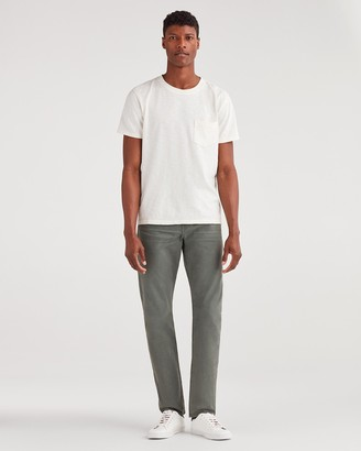 7 For All Mankind Total Twill Adrien with Clean Pocket in Faded Spruce