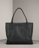 Nancy Gonzalez Matte Crocodile Tote