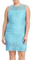 Lauren Ralph Lauren Plus Size Women's Geo Lace Sheath Dress