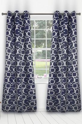 Duck River Textile Rhys Blackout Grommet Panel Curtains - Set of 2 - Indigo