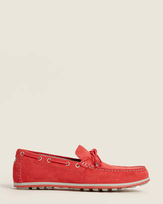 Geox Red Mirvin Suede Moccasins