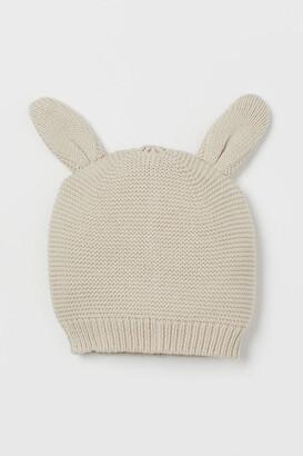 H&M Knit Cotton Hat - Beige