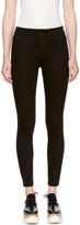 Stella McCartney Black High Waist Cropped Skinny Jeans